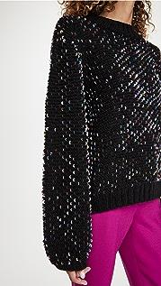 FARM Rio Embroidered Sequin Sweater