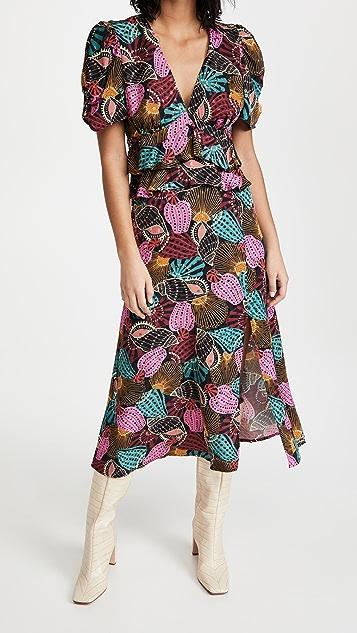 Farm Rio 混纺表层中长连衣裙