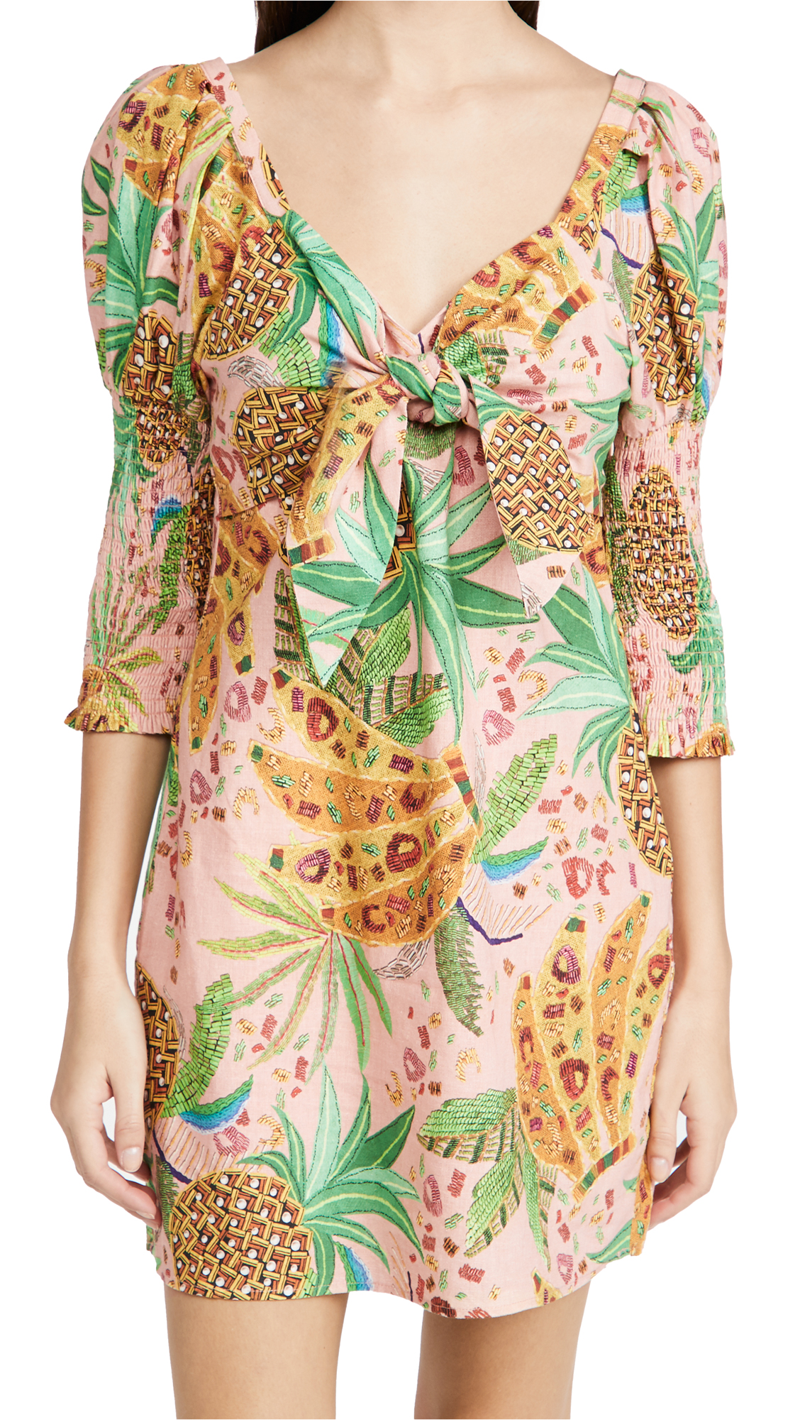 FARM Rio Pink Mixed Fruits Mini Dress