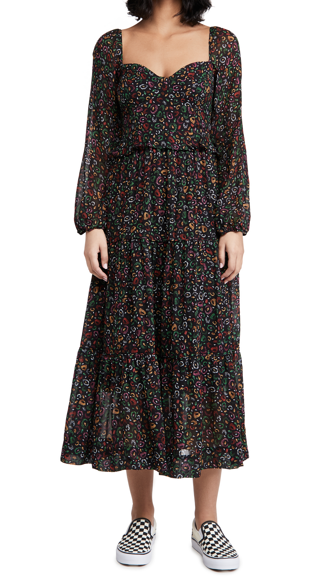 FARM Rio Borogodo Leopard Maxi Dress