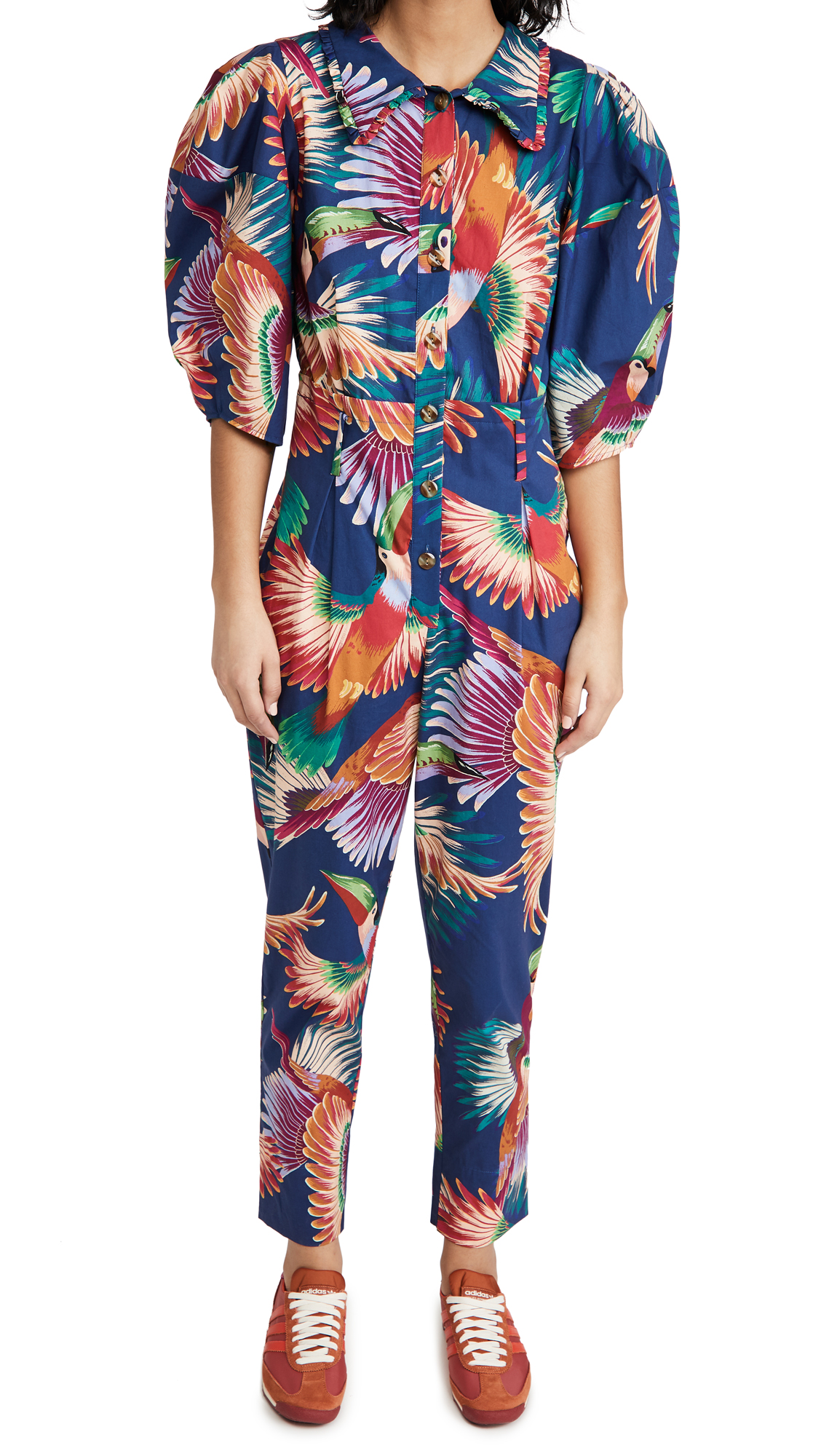 FARM Rio Navy Colorful Toucans Jumpsuit