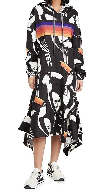 FARM Rio 犀鸟图案毛衣式连衣裙