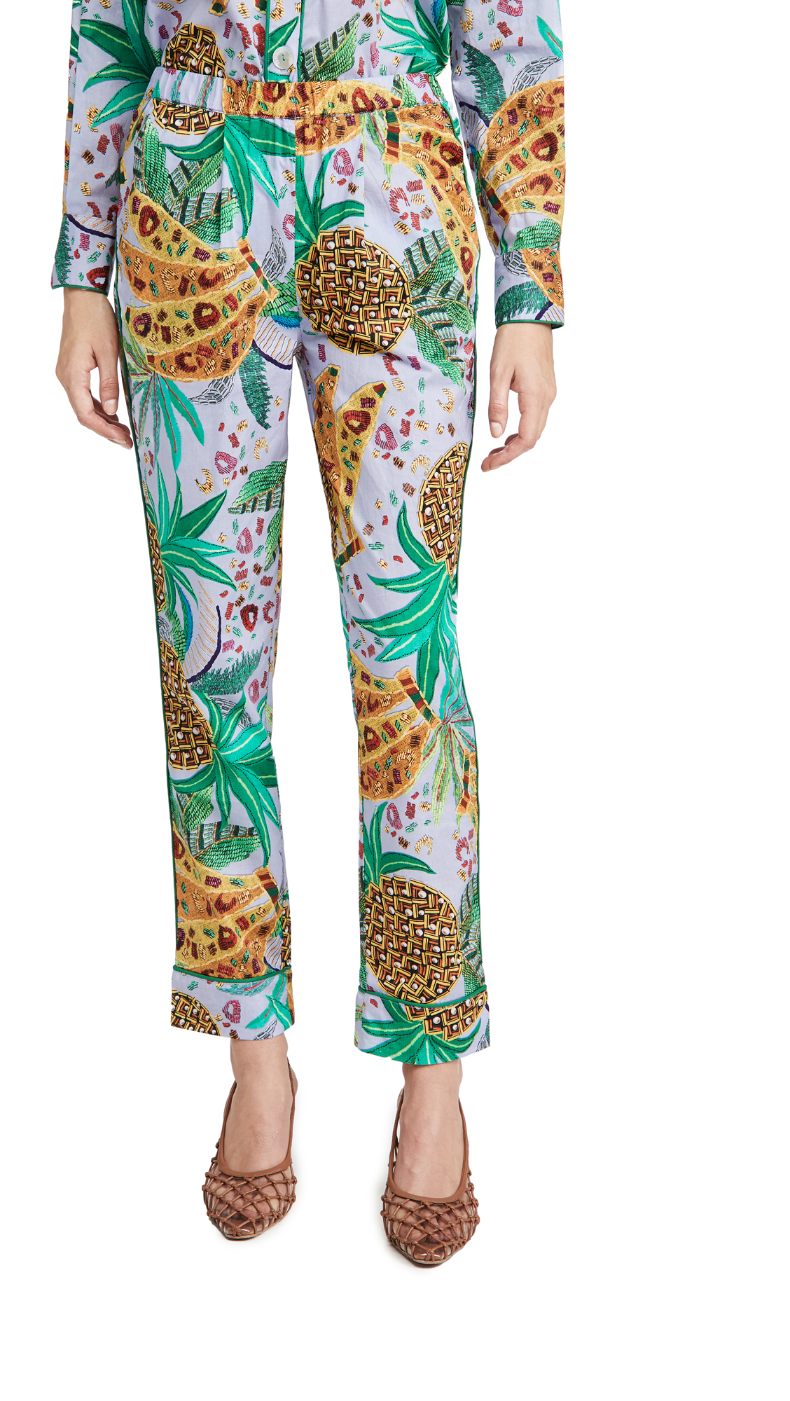 FARM Rio Lilac Mixed Fruits Pajama Pants