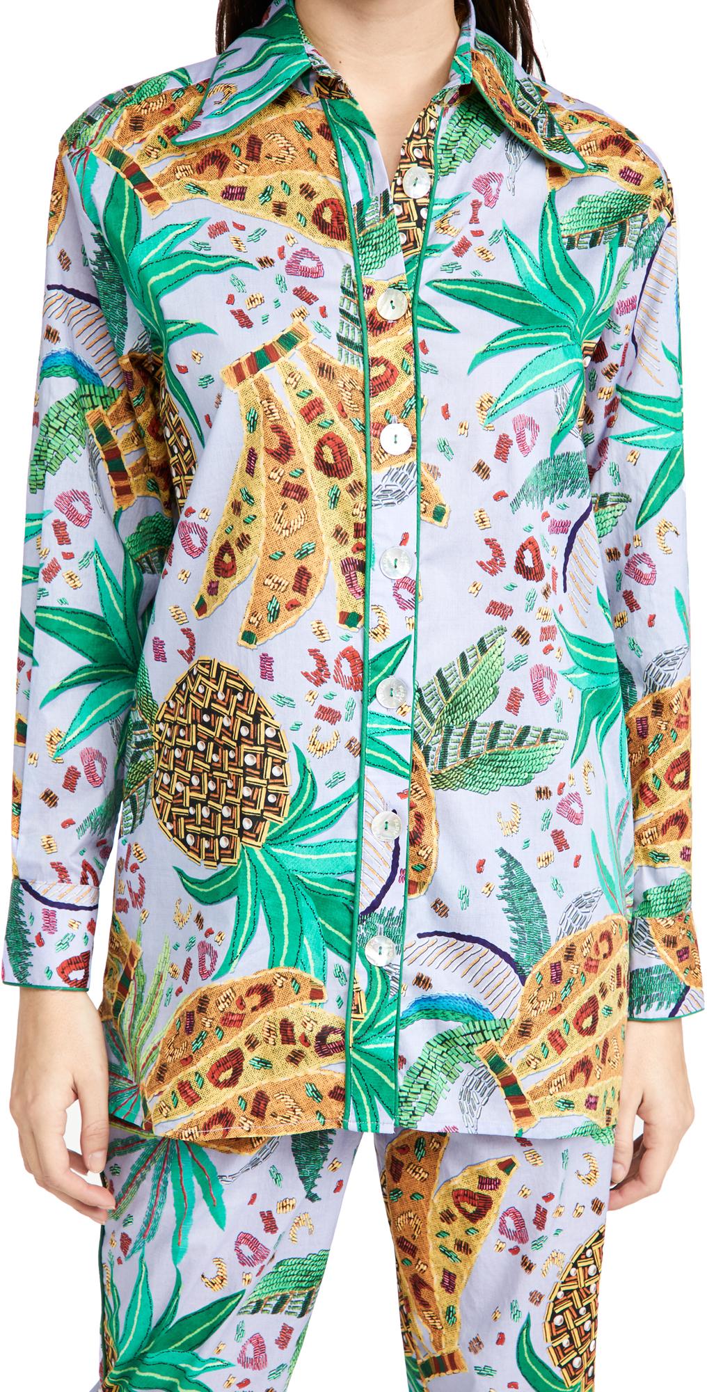 FARM Rio Lilac Mixed Fruits Pajama Shirt