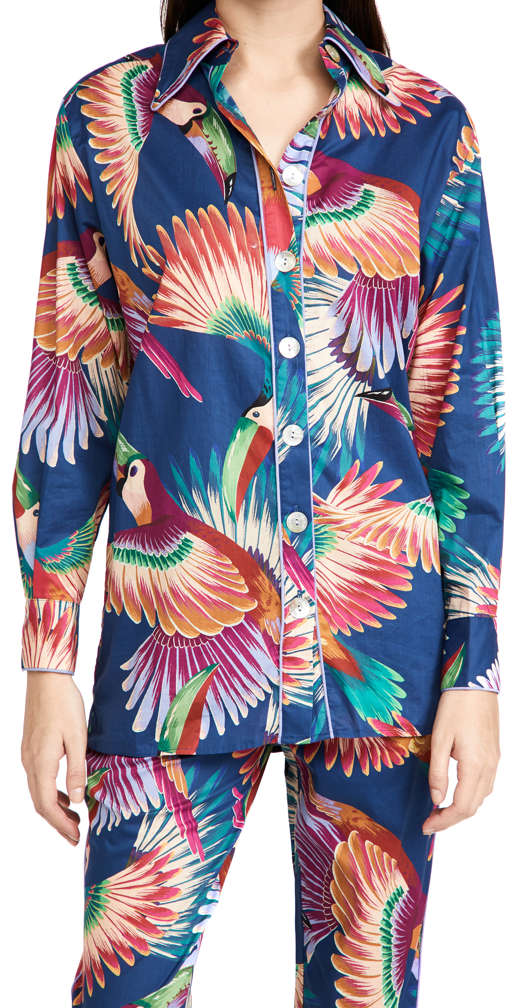 FARM Rio Colorful Toucans Pajama Shirt