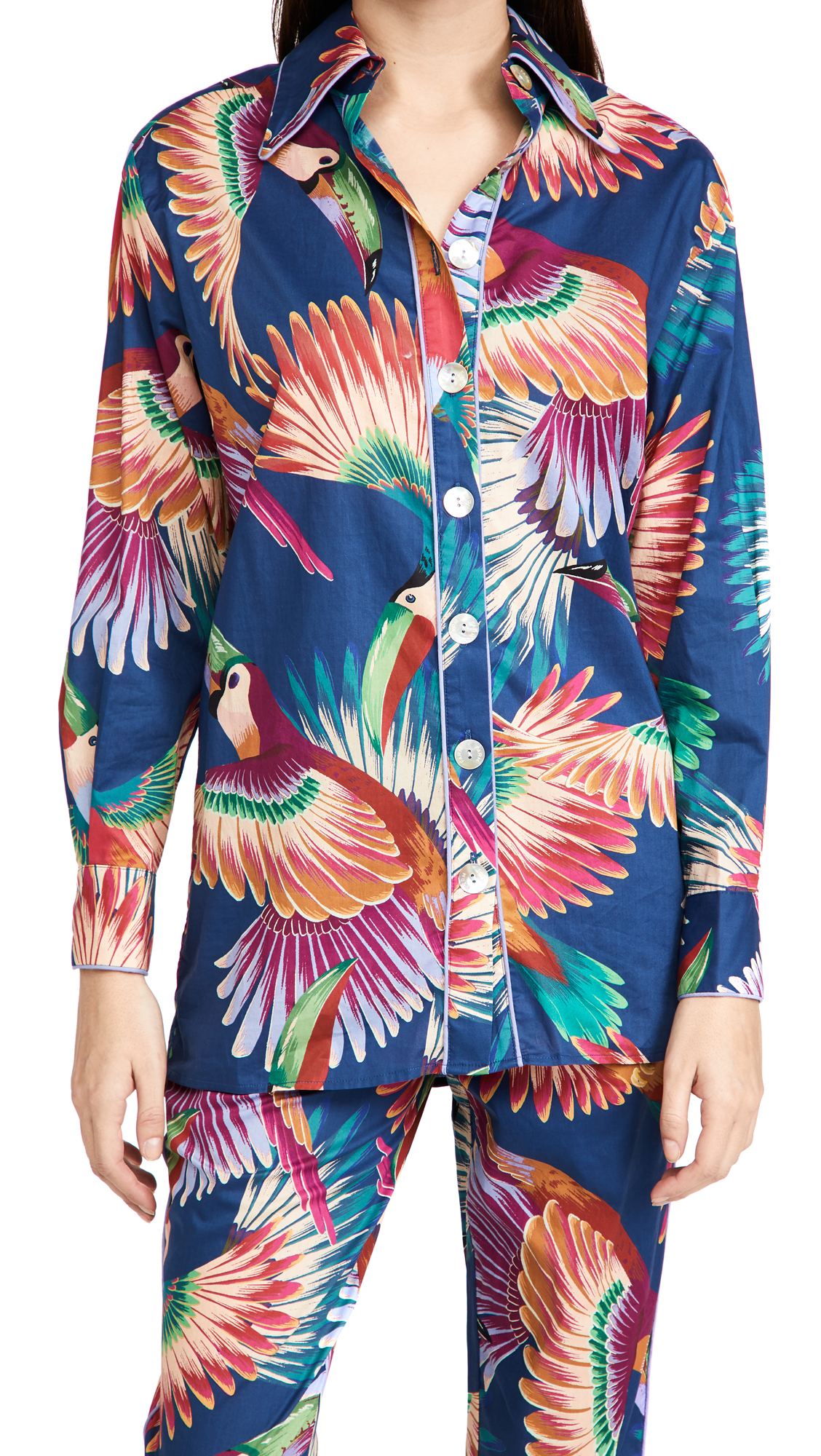 FARM Rio Colorful Toucans Pajama Shirt