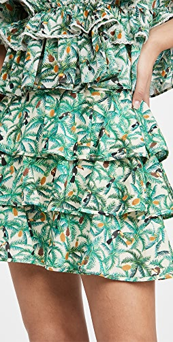 FARM Rio - Mini Toucans Layered Miniskirt
