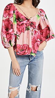 FARM Rio Embroidered Chita Blouse