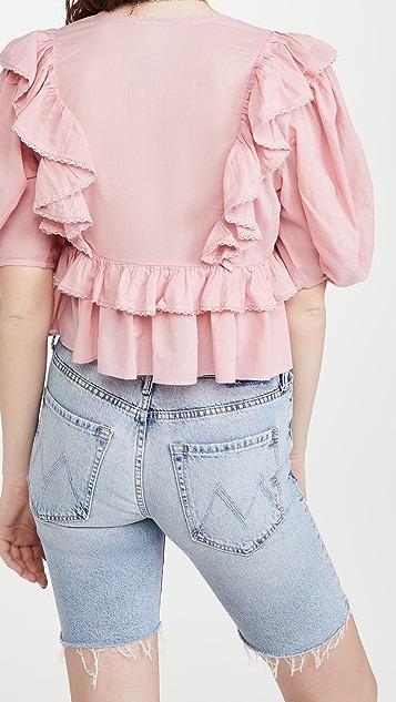 FARM Rio Blush Pink Blouse