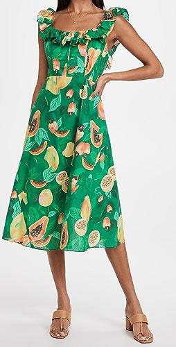 FARM Rio - Green Papaya Salad Midi Dress