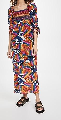 FARM Rio - Rainbow Toucans Smocked Maxi Dress