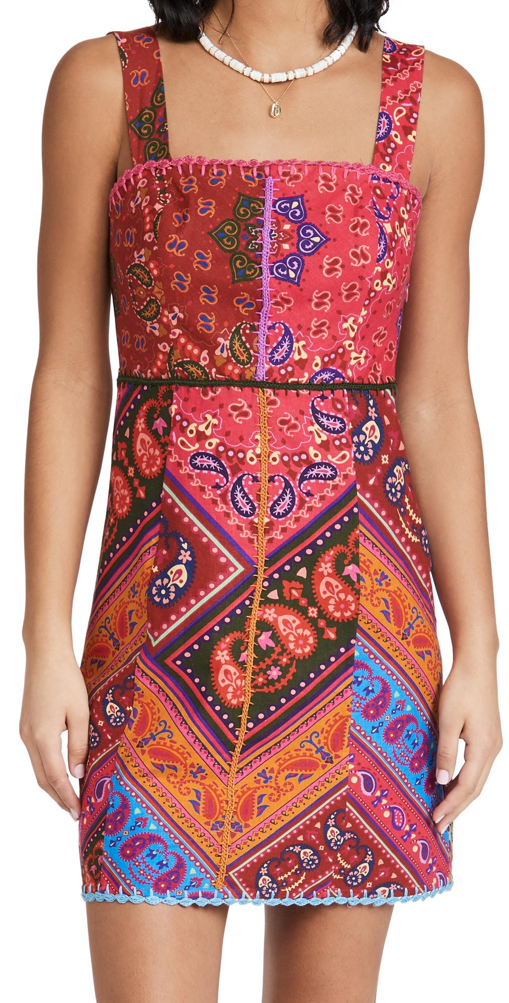 FARM Rio Colorful Bandana Mini Dress