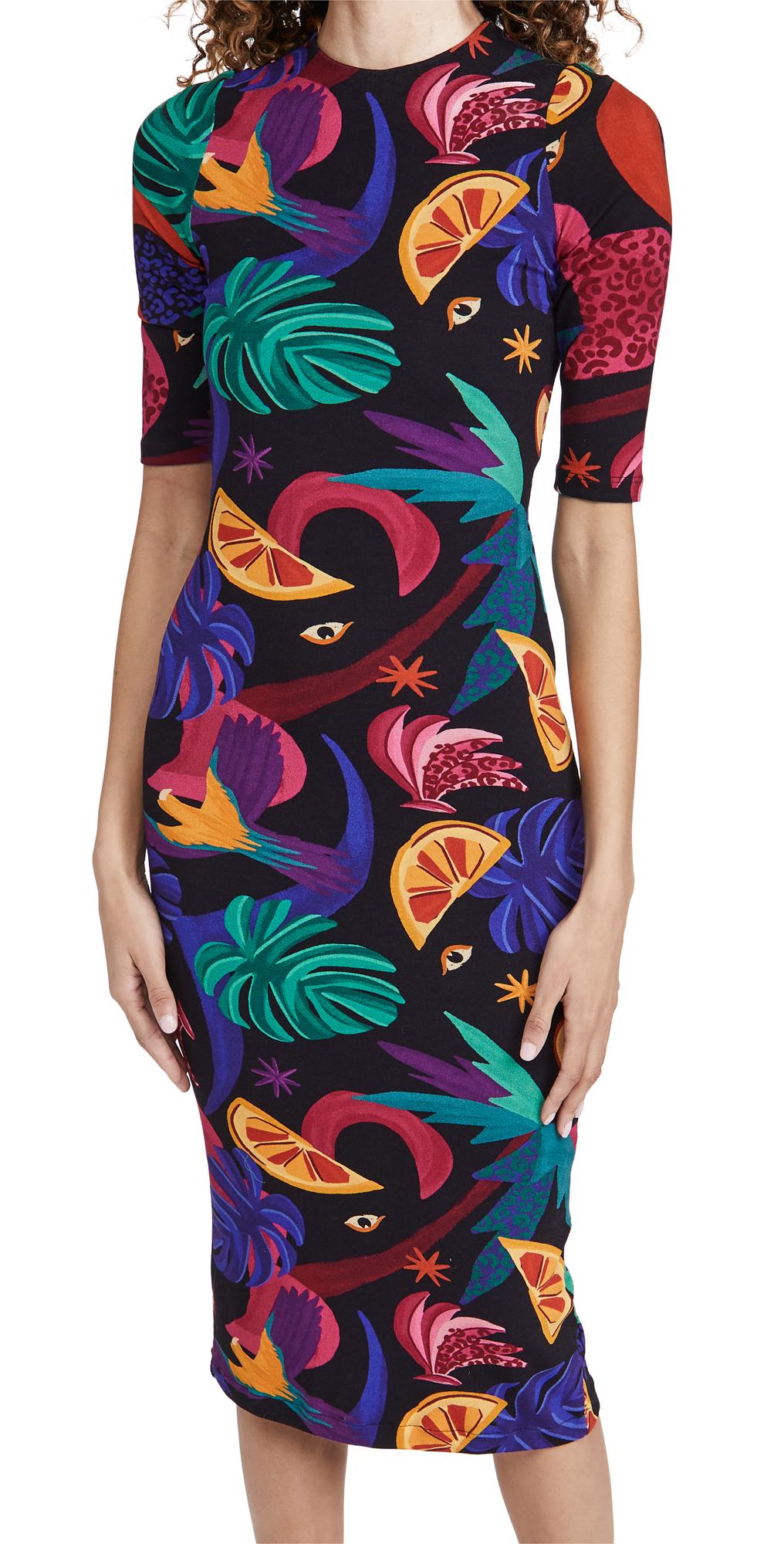 FARM Rio Mystic Jungle Midi Knit Dress