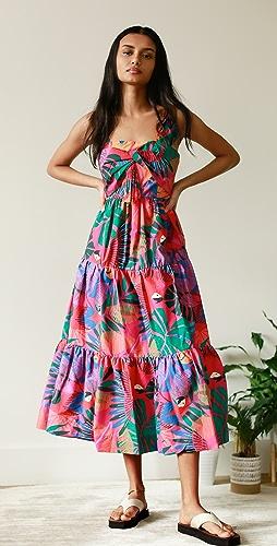 FARM Rio - Macaw Bow Top Midi Dress