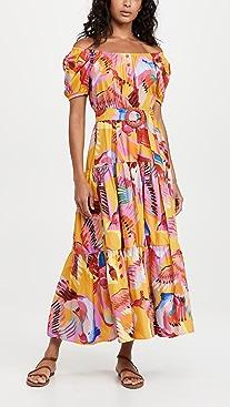 FARM Rio Neon Macaws Maxi Dress