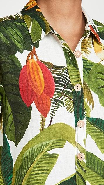 FARM Rio White Cocoa Forest Jumpsuit