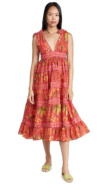 FARM Rio Solar Forest Maxi Dress