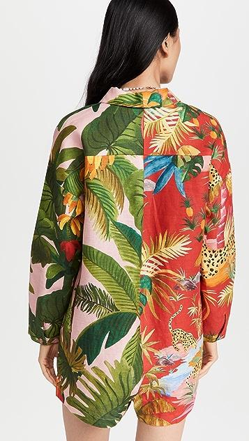Farm Rio 混合印花短款连身衣
