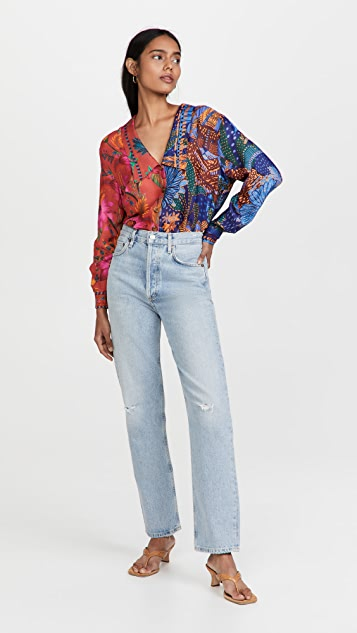FARM Rio Mixed Prints Shirt