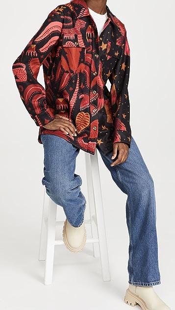 FARM Rio Mixed Black Prints Shirt