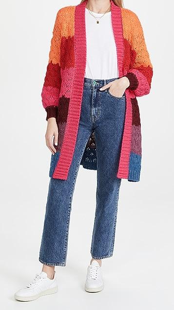 FARM Rio Striped Cardigan