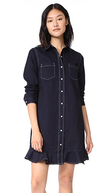 Father's Daughter Jessie Ruffled Shirtdress