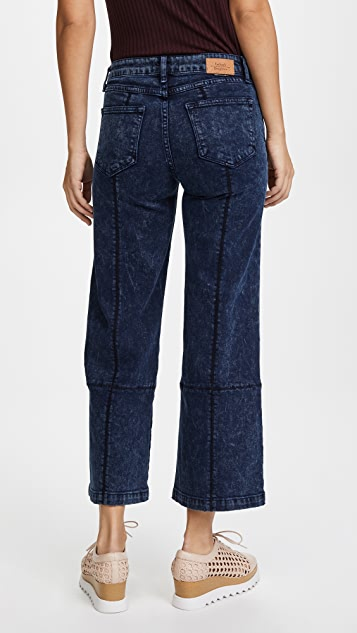 Father's Daughter Claudia Wide Crop Jeans