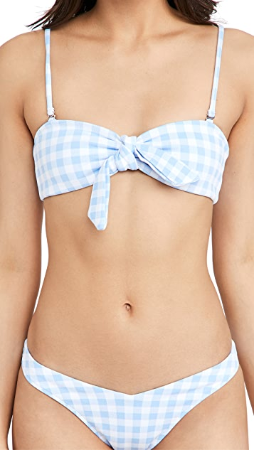 Frankies Bikinis Enzo 格子比基尼上衣
