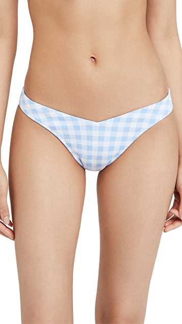 Frankies Bikinis Enzo Gingham Bikini Bottoms