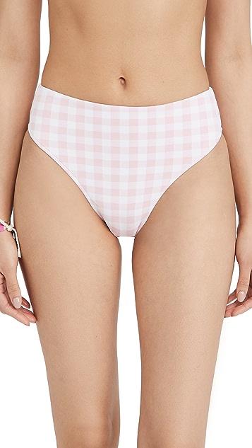 Frankies Bikinis Jenna 格子比基尼泳裤