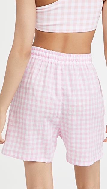 Frankies Bikinis Lou 格子短裤