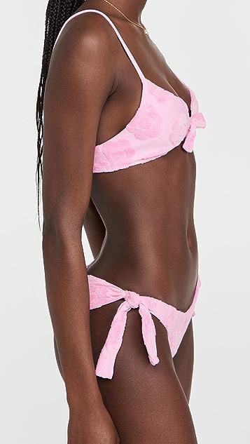 Frankies Bikinis Wonderland Terry Jacquard Bikini Top