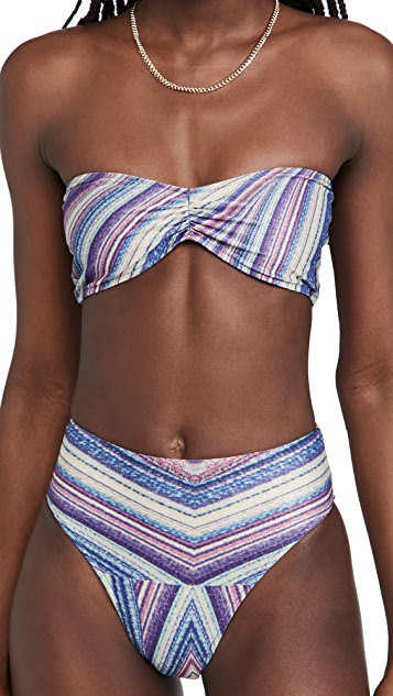 Frankies Bikinis Jeanette Metallic Bikini Top