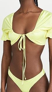 Frankies Bikinis Carly Satin Bikini Top