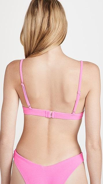 Frankies Bikinis Claire Terry Bikini Top