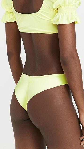 Frankies Bikinis Marina Satin Bikini Bottoms