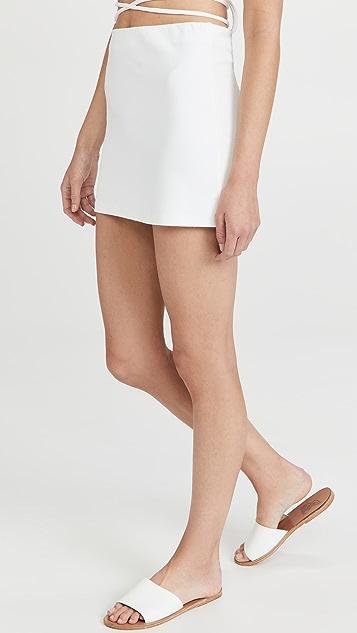 Frankies Bikinis Windward 毛圈布半身裙