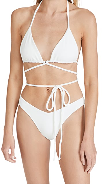 Frankies Bikinis Tatum Terry Bikini Top