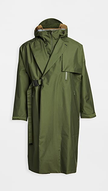 F/CE Double Breasted Taped Seam Wrap Coat