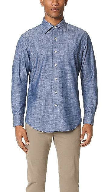 Freemans Sporting Club Hopkins Denim Shirt