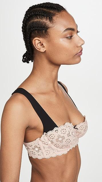 Fleur du Mal 钩针编织蕾丝半罩杯文胸