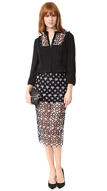 Fleur du Mal Lace Inset Skirt