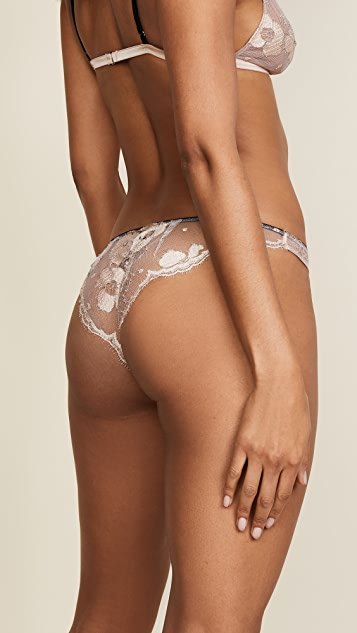 Fleur du Mal Poppy Lace High Leg Briefs