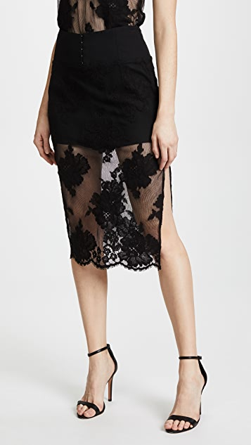 Fleur du Mal Lace Pencil Skirt