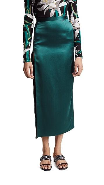 Fleur du Mal Skirt with High Slit