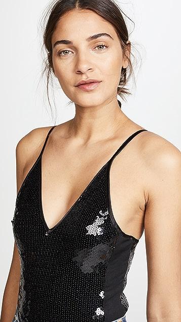 Fleur du Mal Sequin Bodysuit