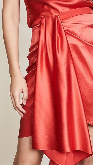 Fleur du Mal Asymmetrical Miniskirt