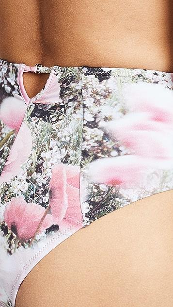 Fleur du Mal High Waist Bikini Bottoms