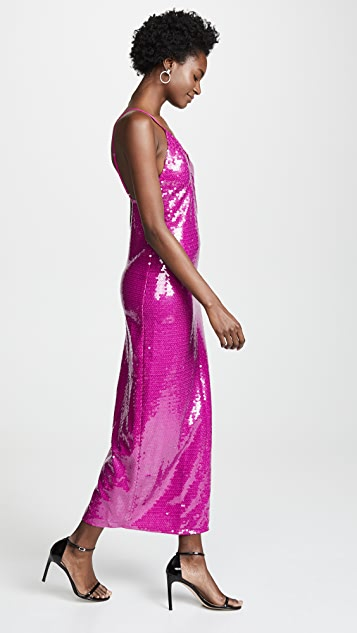 Fleur du Mal Длинное платье-комбинация с блестками