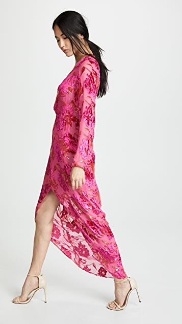 Fleur du Mal Fil Coupe Long Wrap Dress